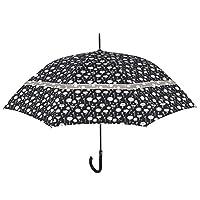 PERLETTI umbrella with flowers automatically 112 cm beige