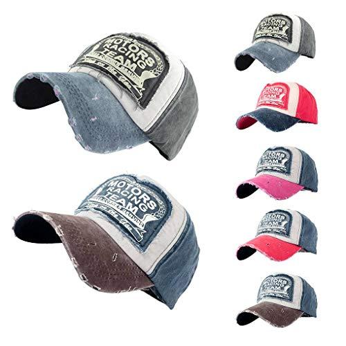 Imagen de use  de béisbol de la letra mujeres hombres lavable lienzo patchwork sombrero de hip hop deportes ocio de primavera y verano beaums alternativa