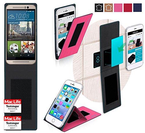 reboon Hülle für HTC One M9s Tasche Cover Case Bumper | Pink | Testsieger