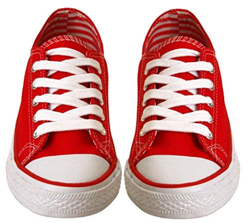 A&H Footwear ,  Baby Mädchen Mädchen flache Schuhe zum Schnüren Rot