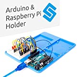 SunFounder Arduino Raspberry Pi Holder Breadboard RAB 5 in 1 Base Plate Case for Arduino UNO R3 Mega 2560, Raspberry Pi 3 Model B, 2 Model B and 1 Model B+ 400 800 Points Breadboard Circuit Board