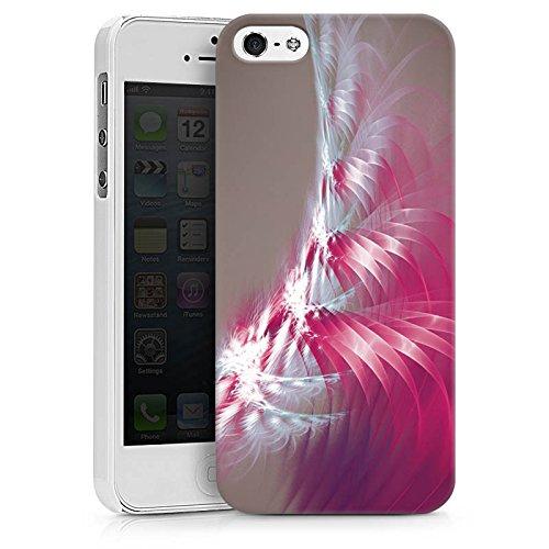 Apple iPhone X Silikon Hülle Case Schutzhülle Muster Licht Spirale Hard Case weiß