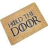 """eureya–Alfombra antideslizante alfombrillas de baño sala de estar área de cocina Rugs–Alfombra Puerta Felpudo para interior/exterior 23.6(L) x15.7(W), Hold the door, 23.6""""(L)x15.7""""(W)"""