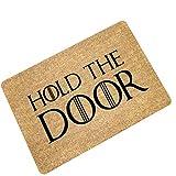 """Eureya Tapis d'entrée antidérapant de Salle de Bain Salon de Cuisine Zone Tapis de Porte Tapis Tapis de Sol pour intérieur/extérieur 59,9cm (L) X15.7(L), Hold The Door, 23.6""""(L) x15.7(W)"""