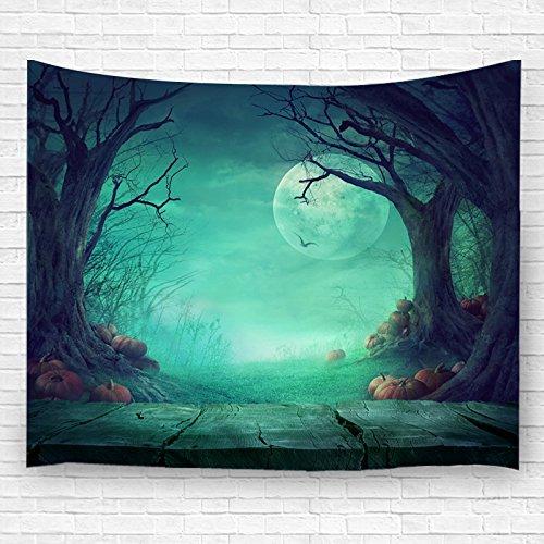Gobelin Deko Aufhängen Ornaments Wand Aufhängern für Schlafzimmer Wohnzimmer mit Halloween Kürbis Bed Sheet 9