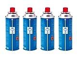 Campingaz CP250 Gas Cartridge, 4 x 250 g - Blue