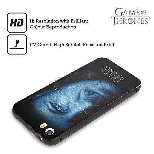 Officiel HBO Game Of Thrones Jon Snow Winter Is Here Noir Étui Coque Aluminium Bumper Slider pour Apple iPhone 5 / 5s / SE Petyr Baelish