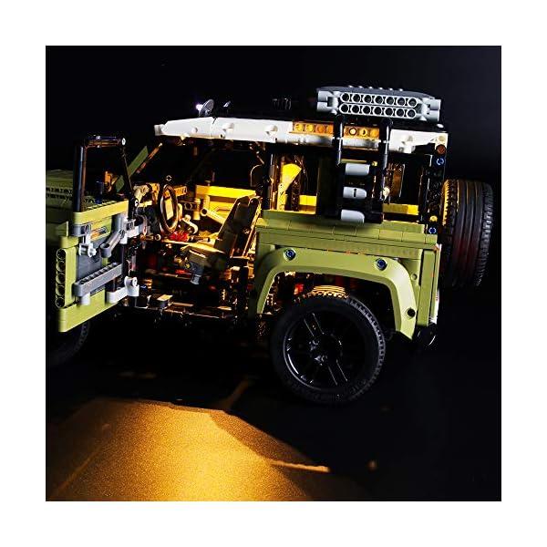LIGHTAILING Set di Luci per (Technic Land Rover Defender) Modello da Costruire - Kit Luce LED Compatibile con Lego 42110… 4 spesavip