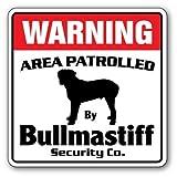 Home Decor Bullmastiff Sicherheit Schild Bereich 'Pet Wasserspeier AKC-Hund