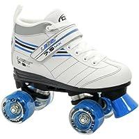 Roller Derby, Pattini a rotelle Bambina LaserSpeed Quad Skate, Bianco (weiß/schwarz/blau), 37