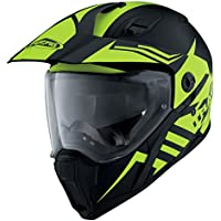 CABERG X-TRACE LUX MOTORBIKE MOTORCYCLE RACING FULL FACE SPORTS HELMET MATT BLACK/YELLOW