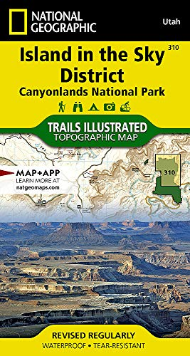 National Geographic Trails Island in the Sky District: Canyonlands Nationa Park: Utah (National Geographic Trails Illustrated Map, Band 310)