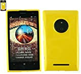 Emartbuy® Nokia Lumia 735 / Lumia 730 Dual Sim Shiny Gloss Gel Hülle Schutzhülle Case Cover Gelb