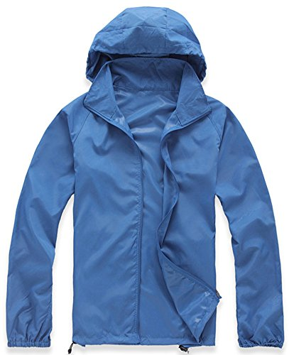 Mochoose Damen Super Leichte Regenbekleidung Outdoor Hoodie Jacke Schnell Trocken Windbrea