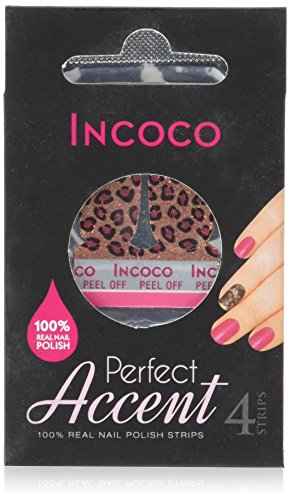 Incoco Nagellack trocken in Streifen–Leopard Love Accent Nails