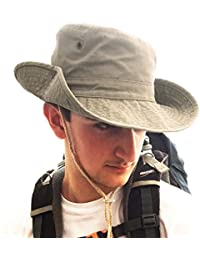 18e5344cc8f TOSKATOK® UPF 50+ Unisex Safari Outback Australian Style Cotton Bush Hat  with Wide Brim