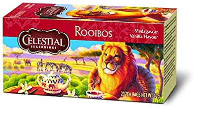 Celestial Seasonings Madagascar Vanilla Rooibos 42 g - Pack de 6