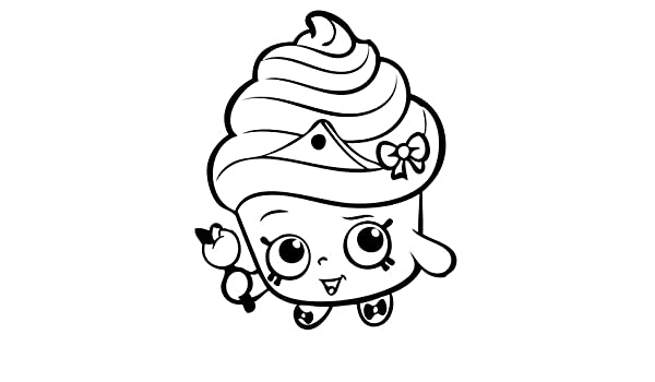 Cupcake Queen Shopkins Black 6 Car Truck Vinyl Decal Art Wall