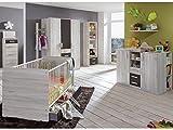 Babyzimmer Cariba komplett Sets verschiedene Ausführungen (Babyzimmer Cariba 3 tlg., Weißeiche)