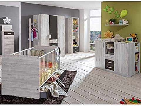 Babyzimmer Cariba komplett Sets verschiedene Ausführungen (Babyzimmer Cariba 3 tlg.,