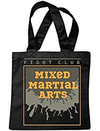 "Bolsillo Bolso Bolsa ""MMA FIGHT CLUB ARTE material mezclado Fightclub lucha de la calle de karate Boxeo Kick Boxing JUDO"" Bolsa de deporte Bolsas de Negro"