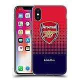Head Case Designs Personalisierte Individuelle Arsenal FC Ausblenden 2018/19 Soft Gel Huelle kompatibel mit iPhone X/iPhone XS