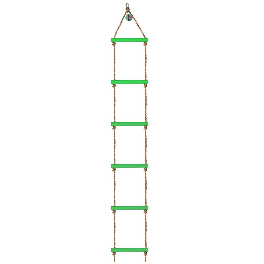 Pellor–niños 6escalones plástico formación para la integración sensorial escalada escalera de cuerda Deportes al aire libre escalada Marcos de carga máxima 120kg