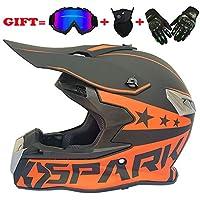CFYBAO Adulto Motocross Casco Gafas de Regalo máscara Guantes Fox Moto  Racing Casco Completo Cara para 2d19c95f8bd