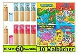 10 Sets Libetui Buntstifte Malbücher für Kindergeburtstag Kinderparty Hochzeit Gastegeschenke Mitgebsel
