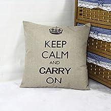 HuntGold 1X Inicio Sofá Almohada decorativa Throw Cushion Caso de lino de la cubierta de la corona de algodón(gris)