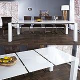 CAGÜ Design ESSTISCH [Tokyo] Weiss Hochglanz 180-220-260cm Ausziehbar, Neu!