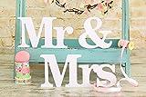 sevenmye MR und Mrs 'Hochzeit Holz Alphabet Deko Schilder Foto Requisiten Party Wimpelkette Banner