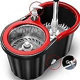 Spin Mop Mopa fregadero acero inoxidable doble conductor mano automáticamente deshidratación Mop