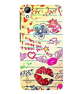 FUSON 3D Designer Back Case Cover for HTS Desire 626 - D9778