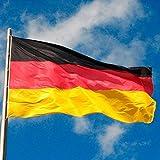 Deutsche Flagge 150 x 90 cm, mit Metall-Ösen, Deutschland-Fahne Schwarz Rot Gold