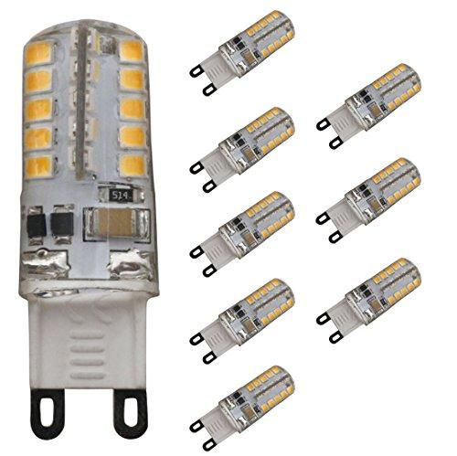 JCKing (Packung 8) 3W G9 LED Dimmable Lampe 40 SMD 2835 LEDS AC 220V - 240V Warm Weiß 2300 3200K 230 LM Halogen Glühlampe Ersatz LED Glühbirne LED Kapsel G9 LED Glühbirnen