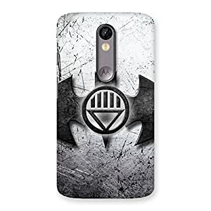 Stylish Black Knight Shade Back Case Cover for Moto X Force