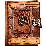 A Little Present Doppel Eule Anhänger Vintage Leder Geldbörse (Hardcover Schutzhülle mit Schloss für Kindle/Kobo Glo/Touch/Aura/Sony/PRS–Braun - gut und günstig