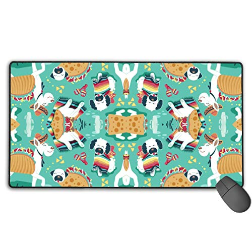 Mauspad Erweiterte Mat fghj Mexican Tacos Dogs Large Gaming Mouse Pad Extended Mat Non-Slip Rubber Desk Pad Computer Keyboard Mat