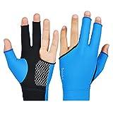 Bobury BOODUN Billiard Pool-Ball-Shooters 3 Fingers atmungsaktive Soft Anti-Rutsch Anti-Rutsch-Sport Lycra Ein Paar Handschuhe
