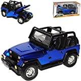 Jada Jeep Wrangler YJ Blau 1. Generation 1987-1995 1/24 Modell Auto