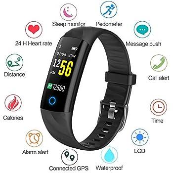 Montre Connectée WISHDOIT étanche écran Couleur Bracelet Intelligent Moniteur de Sommeil Moniteur de fréquence Cardiaque Compteur de Calories Pédomètre ...