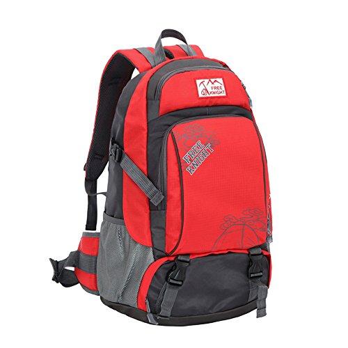 40L Wasserdichte Professionelle Nylon Ultralight Outdoor Rucksack Bike Travel Unisex Multifunktions–Tasche Rot