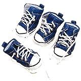 #4: Generic Pet Dog Denim Sport Shoes Boots Sneakers - #5