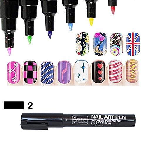 Stylo nail art design Peinture Pinceaux outil de dessin pour vernis à ongles gel UV pour manucure