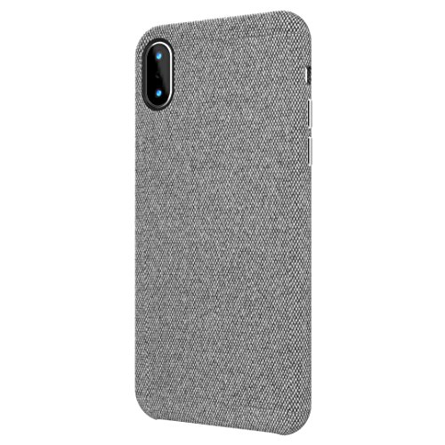 bb face iPhone X Hülle, iPhone 10 Hülle-Gewebe-rückseitige Abdeckungs-schützendes Telefon-Fall unterstützt drahtlosen Aufladen für Apple iPhone X/iPhone 10 5.8 Zoll (2017) - Grau Apple-iphone Fall
