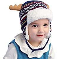 Arcweg Invierno Gorras de Punto Niños Algodón Sombreros Bebes Orejeras Tejido Caliente Lindos Animales Osos Pequeños Orejas Suave Cómodo Respetuoso al Piel