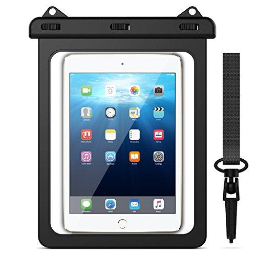 Yokata Wasserdichte Tasche Tablet iPad Universal Schutztasche bis 11.5 Zoll Wasserfeste Taschen Strand Schwimmen Transparent PC Hülle Schutzhülle Clear Beachbag mit Touchscreen Funktion Waterproof Water Resistant Mobile Bag Protective Case für iPad 2/3/4, iPad Pro 9.7, iPad Air/Air 2, Galaxy Tab A 9.7, Tab E 9.6, Tab S2 9.7, Tab S3 9.7, und andere Tablets usw - Schwarz