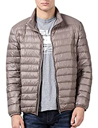 Yasong Men Teenager Quilted Padded Duck Down Filled Winter Puffer Coat Light Weight Down Jacket