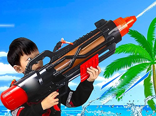 Unbekannt HA Große Luftdruckbereich Schuss Luftpistole Sommer Strand Spritzwasser Set Spielzeug,Rot -
